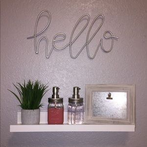 LAST CHANCE! Silver Hello Sign